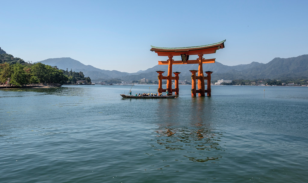 Boat under the Great Torii