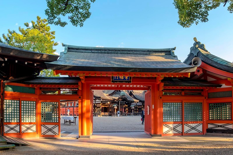 Sumiyoshi Taisha - Main Entrance