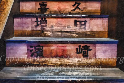Steps to Sushi Place - PAINTING - Copyright 2017 Steve Leimberg UnSeenImages Com L1200373