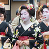 Three Geisha.  Gion district.  Kyoto.