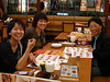 I was very happy to see my friends, Moeko, Chiaki, and Chieko at the airport.  Moeko, Chiaki, and Chieko had never met each other before, but all three had visited my house in PA.  Pizza in a Japanese pizza restaurant was very welcome.