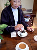 Coffee at a sort-of British/French/Japanese-style cafe -- Yanaka area of Tokyo.