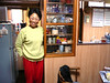 Chieko in her kitchen, early the first morning.