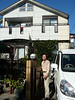 Kunio has a wonderful minivan, with navigation system, absolutely necessary in the Tokyo area.  The house is in the background.