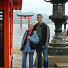 Jon took a photo of a Japanese couple, then asked them to take our photo.  It captures the moment and the place, we think.