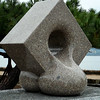 """""""Nuts"""" is our guess for the name of this marble sculpture, without English explanation."""