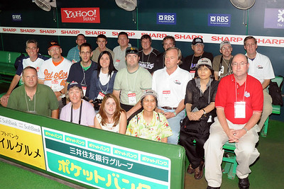 Group in Fukuoka Hawks dugout