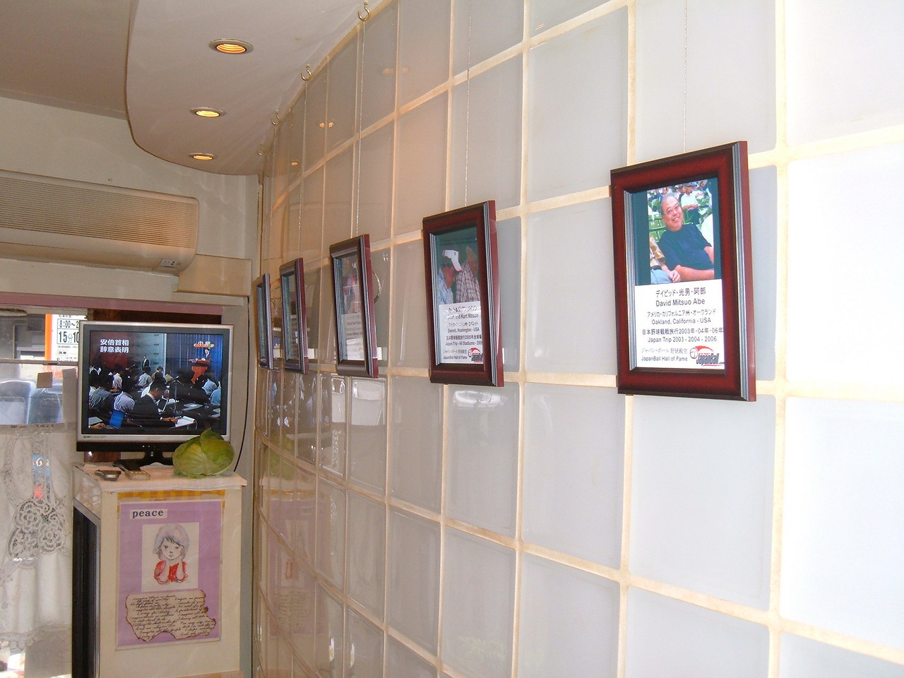 First Hall of Fame plaques