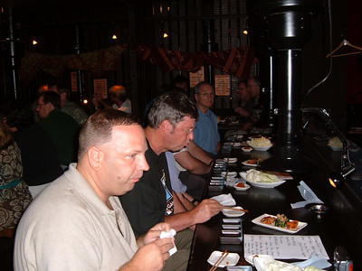 Group dinner in Sendai with Marty Kuehnert of Rakuten Golden Eagles