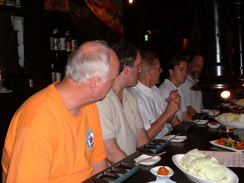 Group dinner in Sendai with Marty Kuehnert of Rakuten Golden Eagles