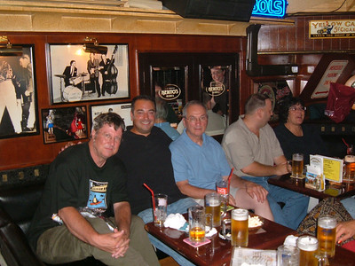 Group at Kento's classic rock and roll bar