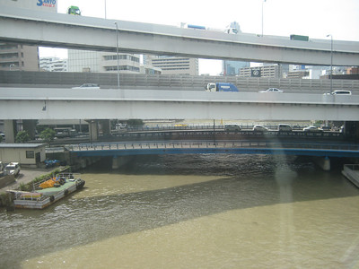 Taken during train ride around Tokyo Bay (bridges!!)