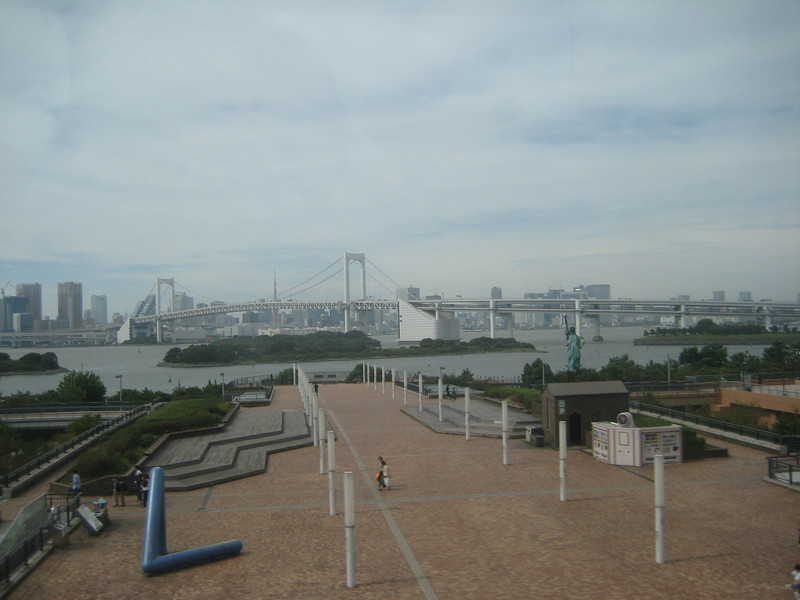 Taken during train ride around Tokyo Bay (statue of liberty)