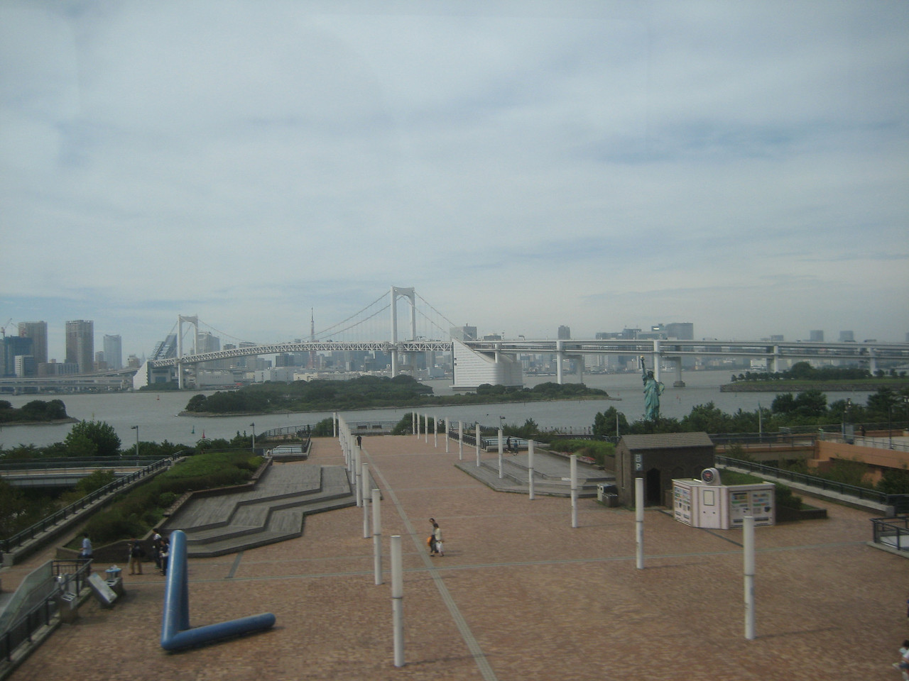 Taken during train ride around Tokyo Bay (statue of liberty)