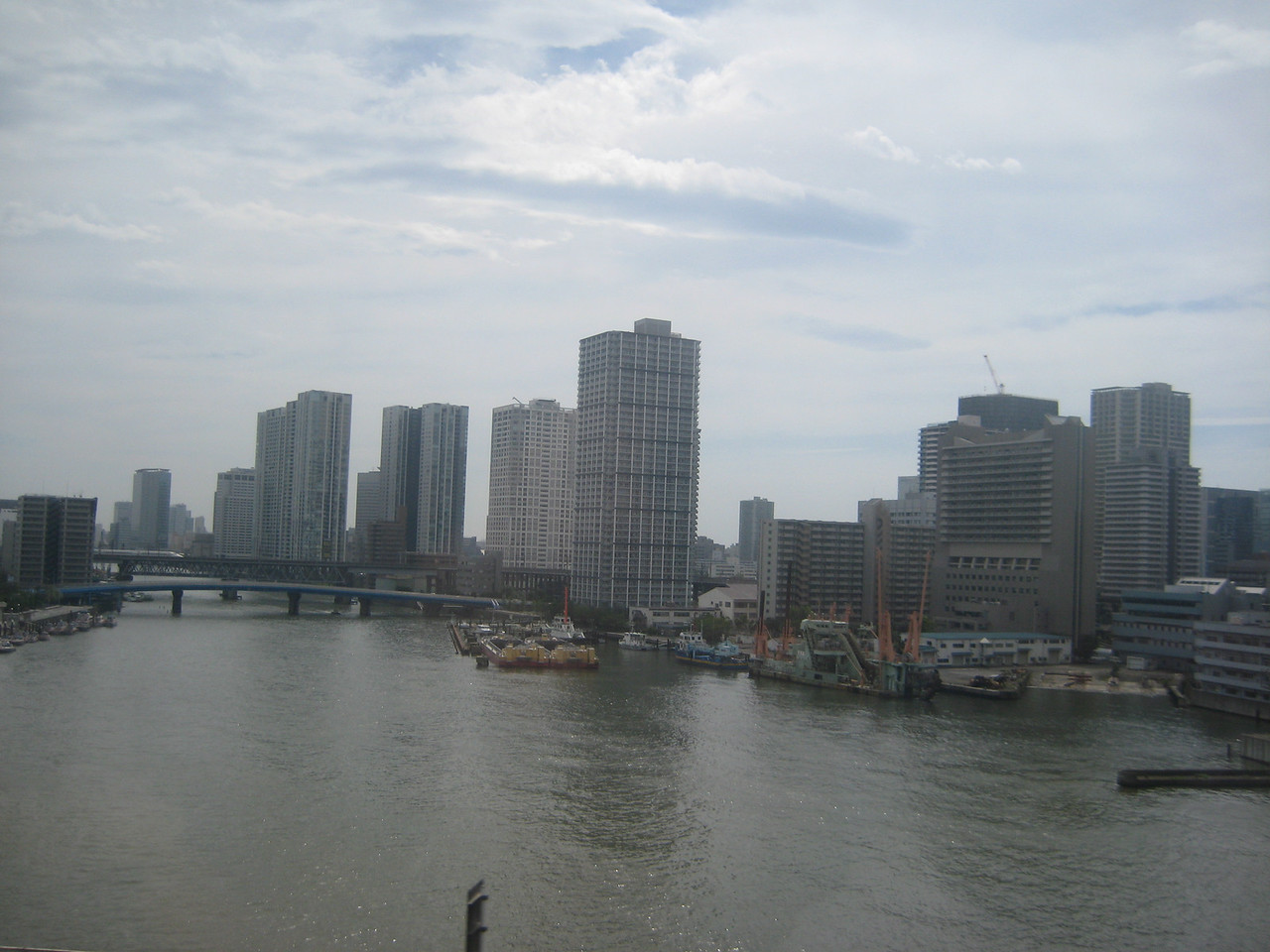 Taken during train ride around Tokyo Bay