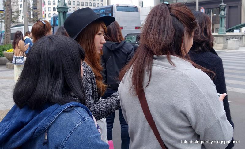 Women in Osaka, Japan in March 2015