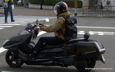 A big scooter in Kyoto, Japan in March 2015