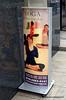Yoga sign in Osaka, Japan in March 2015. Viola Tricolor