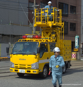 Traffic vehicle in Nagasaki, Japan in March 2015