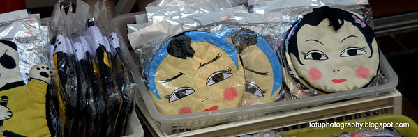 Purse pouches for sale in Chinatown in Nagasaki, Japan in March 2015