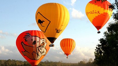 Hot Air Balloon in Queensland - It's just like a balloon festival everyday!