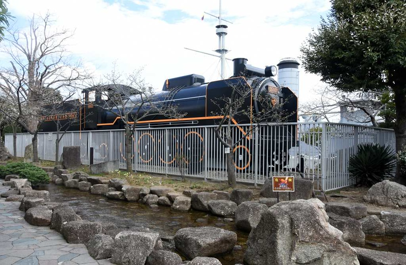Replica Japanese National Railways 2-8-2 D51 101, Mikasa Park, Yokosuka, 21 March 2019 1.  This replica is plinthed alongside battleship Mikasa, seen in the background.