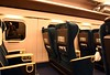 W7 Shinkansen green car (= first class) interior, 27 March 2019 3.  The seats rotate, and are always turned to face the direction of travel.  A seven day green (= first) class Japan Rail pass costs £265.