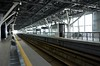 Toyama station, 27 March 2019 2.  A view of the new Shinkansen platforms.  Other platforms serve other lines.
