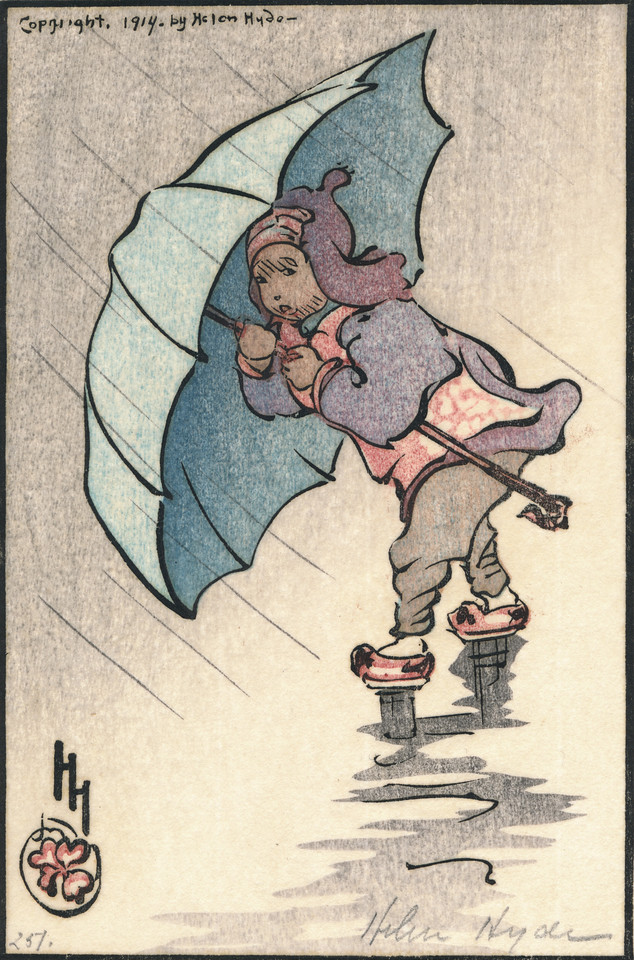 Helen Hyde 1914<br /> woodblock print on India paper