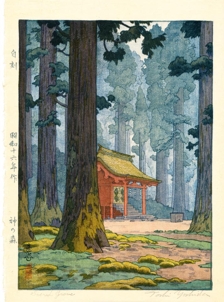 Kami no mori (The forest of God) by Toshi Yoshida