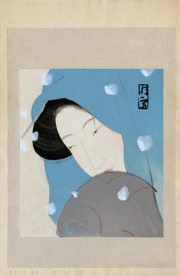 "TSUNETOMI, Kitano  ""The Heroine Umekawa"" (in the play ""Meido no Hikayuki"")<br /> aka ""Woman in Snow."" ca1923"