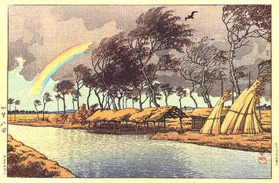 Autumn Rainbow at Hatta, Kaga 1924