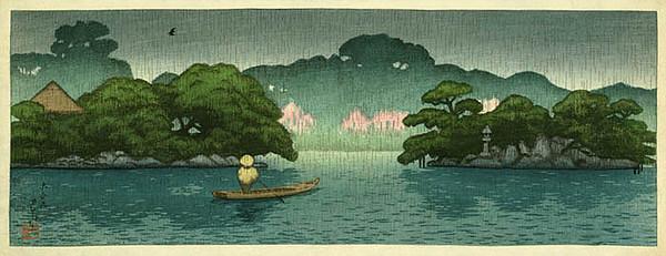 Boat in Spring Rain 1920