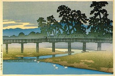 Asano River in Kanazawa District_1920