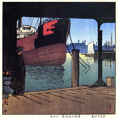 Ferry at Tsukijima_1921