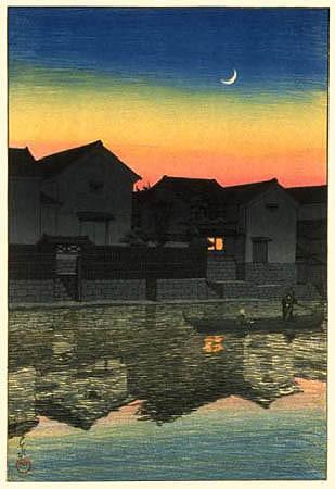 Crescent Moon at Matsue, Izumo 1924