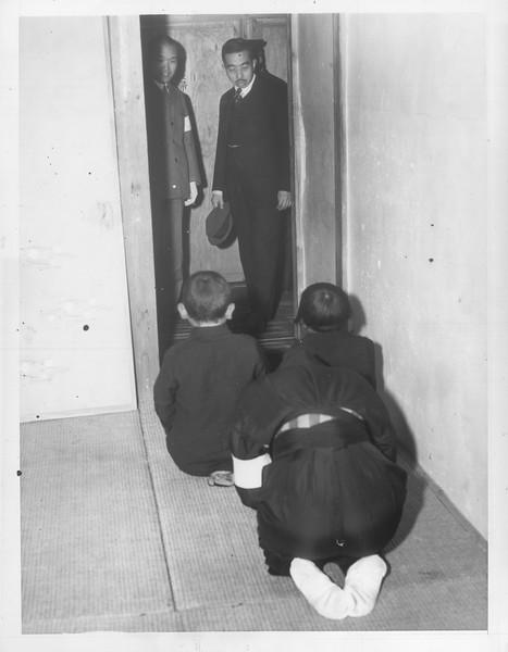 """Repatriated Japs Revert to Type"" --  caption on photograph"
