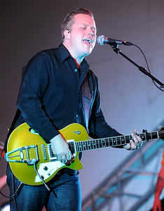 Jason Isbell performs during a concert Wednesday at Riverfront Park's Vetter Stone Amphitheater. Photo by Pat Christman