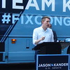 Jason Kander At Bus Tour Stop In Jefferson City, MO