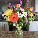 Fresh flowers adorned the event.