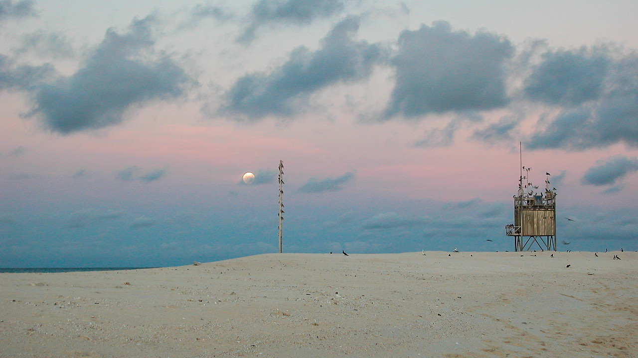 Dusk at Flinders Sand Cay, Great Barrier Reef, QLD, Australia