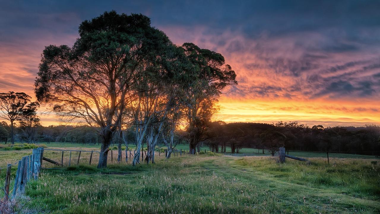 Sunset at Guyra, NSW, Australia