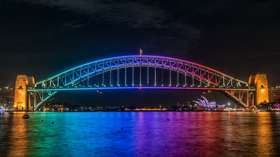 Vivid 2013  With the Sydney Opera House being used as a projector screen, this year  the Harbour Bridge got in on the act of being lit up with colours. 2013 was the 5th year for the festival, happening for 2 weeks in May.