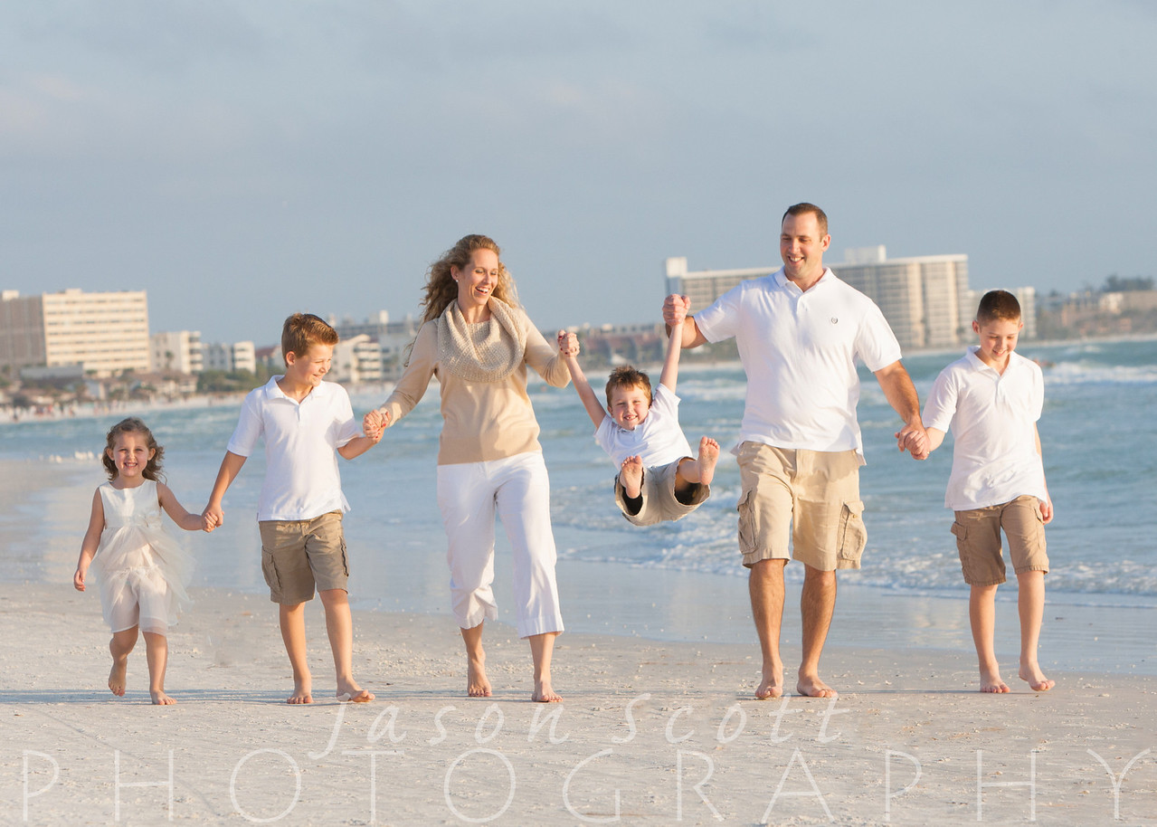 Family Beach Portraits by Jason Scott Photography - Family Pictures on Siesta Key Beach, Longboat Key, Englewood Beach, Venice Beach, or Anna Maria Island