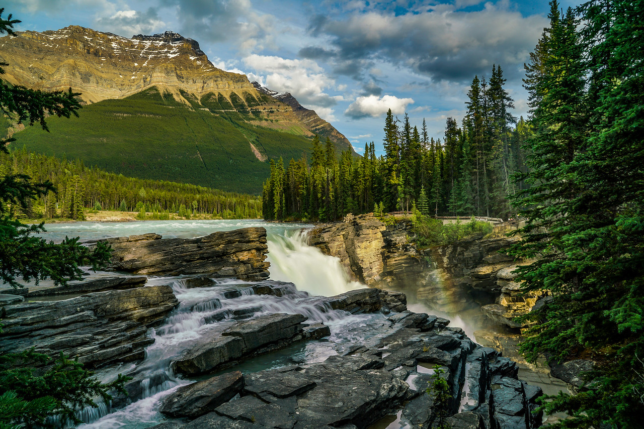 Rainbow of the Athabasca Falls