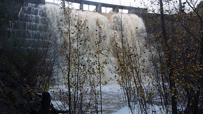 Video clip from below dam