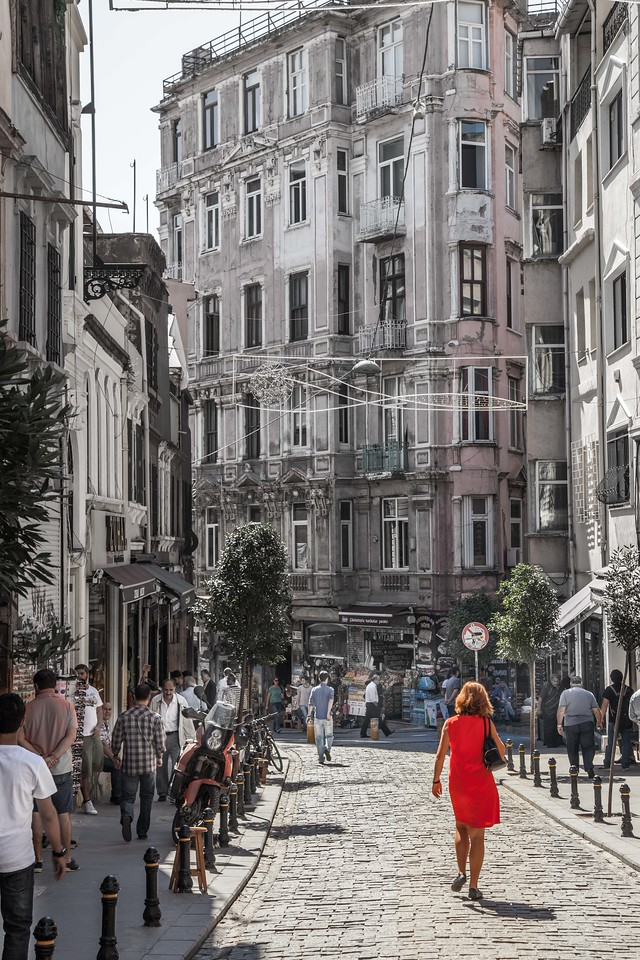 Woman in Red - Istanbul