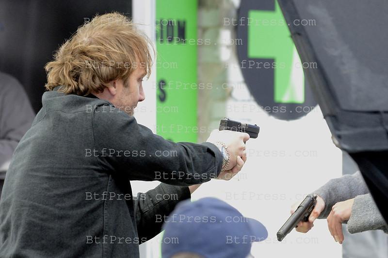Jay Mohr during the set of the TV Movie AppleBaum in Venice California.