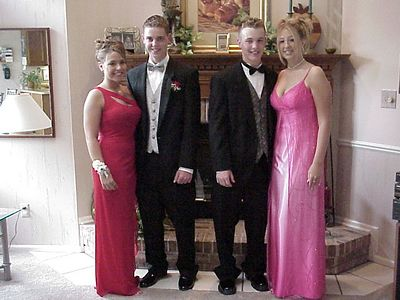 Erin, Corey, Jay & Kelli taking pics for Prom - 2003