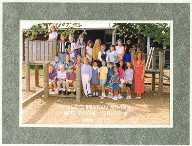 Third Grade - Age 9 Grace Christian School - 1994